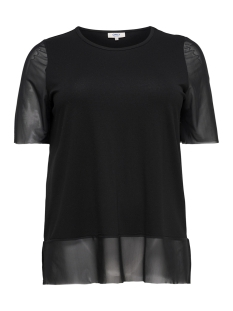 Only Carmakoma T-shirt carSISSEL 2/4 TOP 15168200 Black