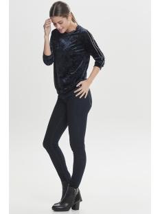 onlpoptrash velvet piping blouse pn 15166223 only trui night sky