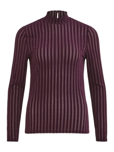 Vila T-shirt VIDARLING STRIPE L/S T-SHIRT 14050465 Winetasting/WINETASTING