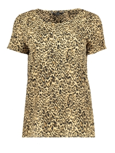Vero Moda T-shirt VMKATRINE LI SS TOP LOCAL 10208824 Travertine/LEO PRINT
