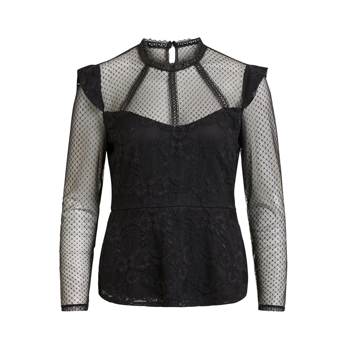 vidusa l/s top 14049682 vila t-shirt black