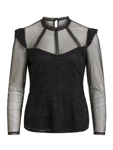 Vila T-shirt VIDUSA L/S TOP 14049682 Black