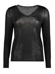 Only T-shirt onlPLEARL L/S TOP  JRS 15164241 Black/BLACK FOIL