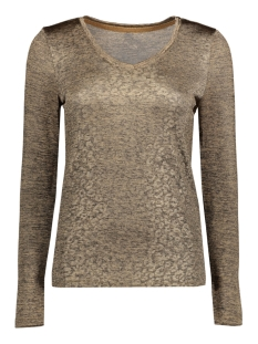 Only T-shirt onlPLEARL L/S TOP  JRS 15164241 Nomad/PALE GOLD