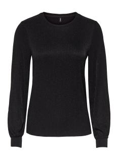 Only T-shirt onlCAROL L/S TOP BOX JRS 15164235 Black/JAQUARD GL