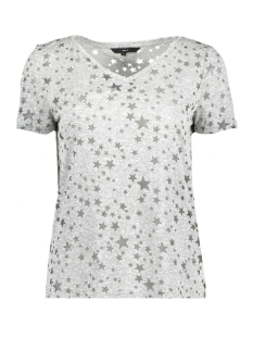 Vero Moda T-shirt VMSTAR BURNOUT S/S T-SHIRT D2-10203889 Light Grey Melange/STAR BURNOUT