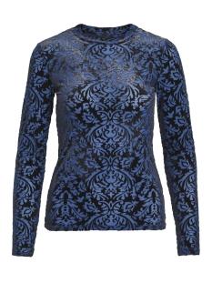 Object T-shirt OBJTURNER MARIANN L/S TOP100 23028122 Heritage Blue