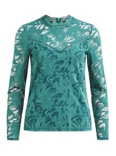 vistasia l/s lace top-fav 14044847 vila blouse bayberry
