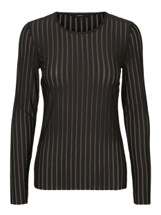 Vero Moda T-shirt VMMOON MESH L/S O-NECK TOP 10202106 Black/BLACK