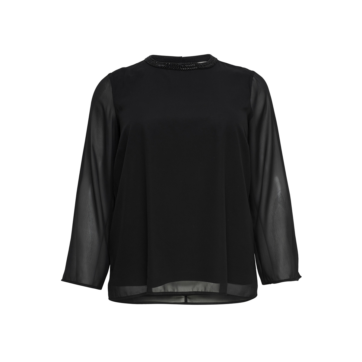 carcad l/s sleeve top 15168997 only carmakoma blouse black