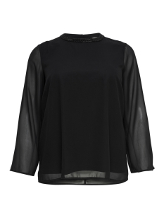 Only Carmakoma Blouse carCAD L/S SLEEVE TOP 15168997 Black