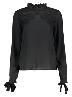 Vero Moda Blouse VMFANA SHARPA L/S MIDI LACE TOP D2- 10207199 Black/BLACK LACE