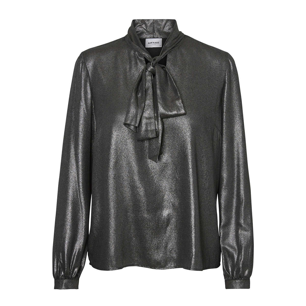 vmfairy ls top ga 10206001 vero moda blouse black/silver pri
