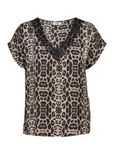 Jacqueline de Yong T-shirt JDYFUN S/S TOP WVN 15164908 Black/LEOPARD