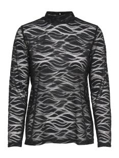 Jacqueline de Yong T-shirt JDYVILDA L/S LACE TOP JRS EXP 15168575 Black/LACE