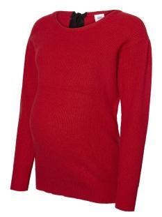 mlchatrine l/s knit top 20009097 mama-licious positie trui barbados cherry