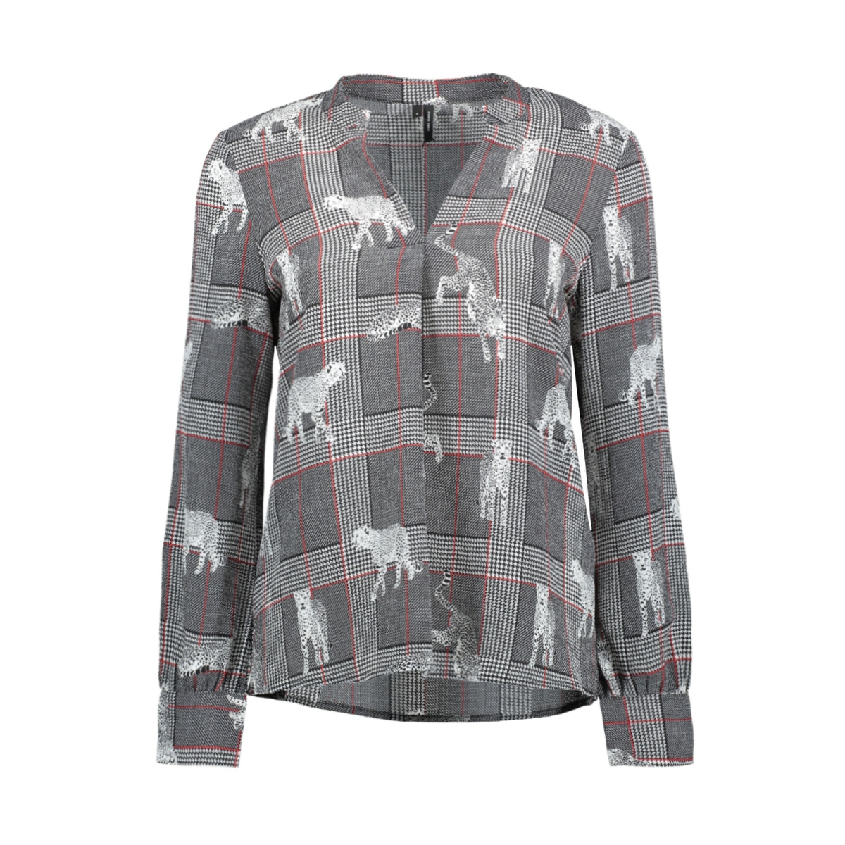 vmsasha rome l/s top exp 10212982 vero moda blouse snow white/check