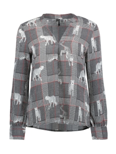 Vero Moda Blouse VMSASHA ROME L/S TOP EXP 10212982 Snow White/CHECK