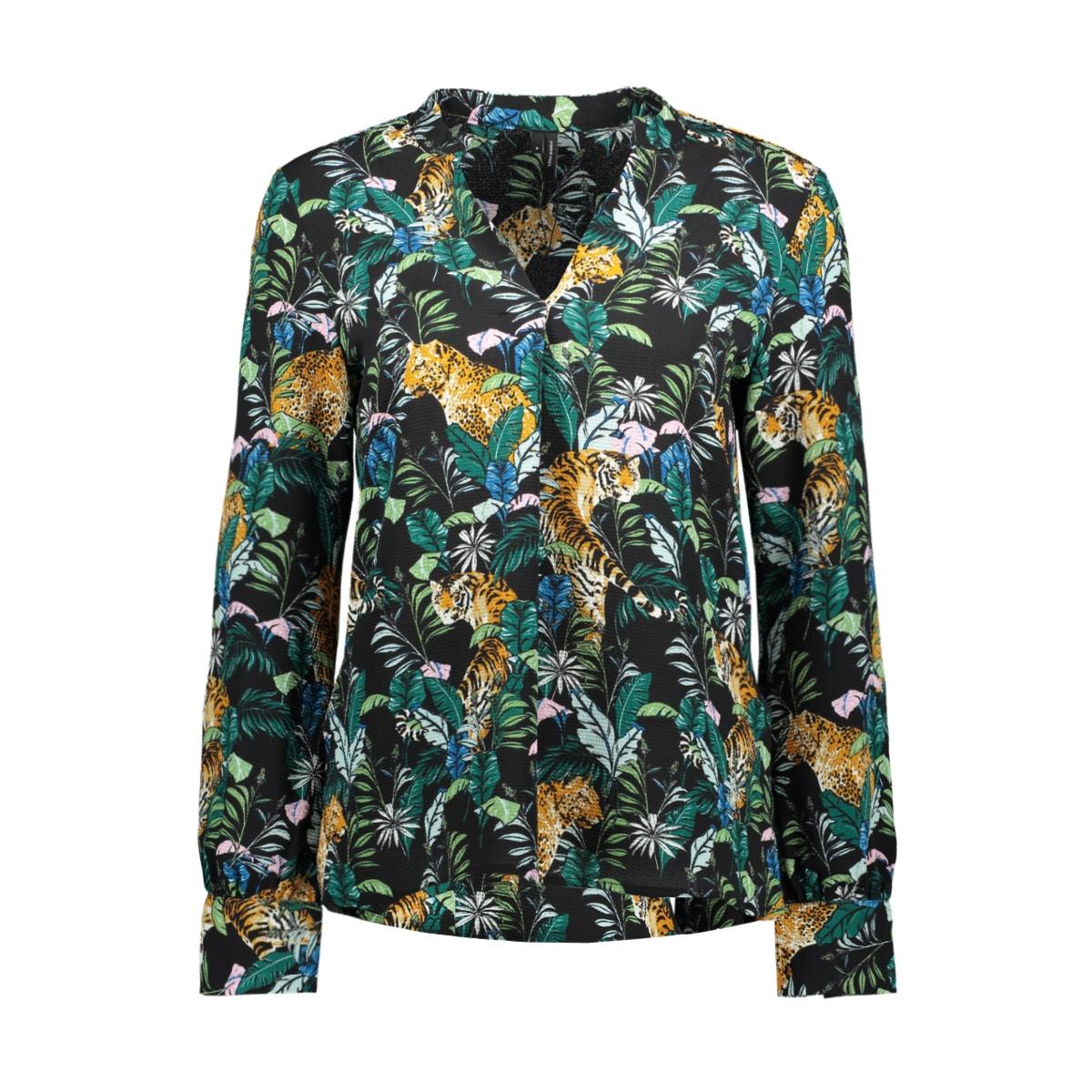 vmsasha rome l/s top exp 10212982 vero moda blouse black/jungle