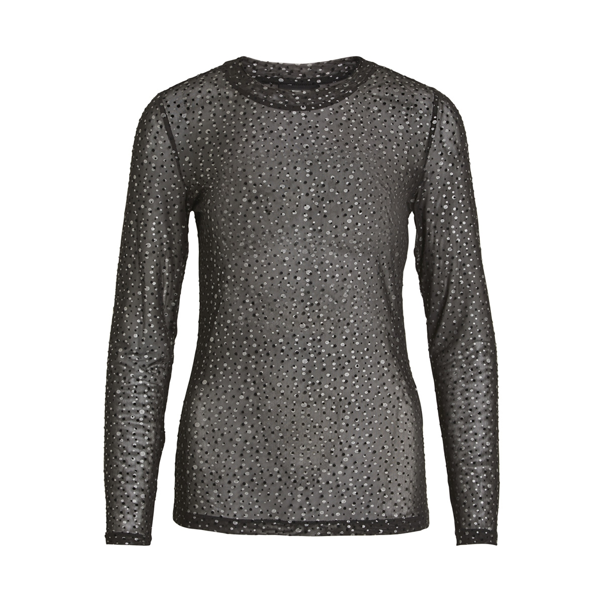 objmonroe mariann l/s top 100 23028393 object t-shirt black