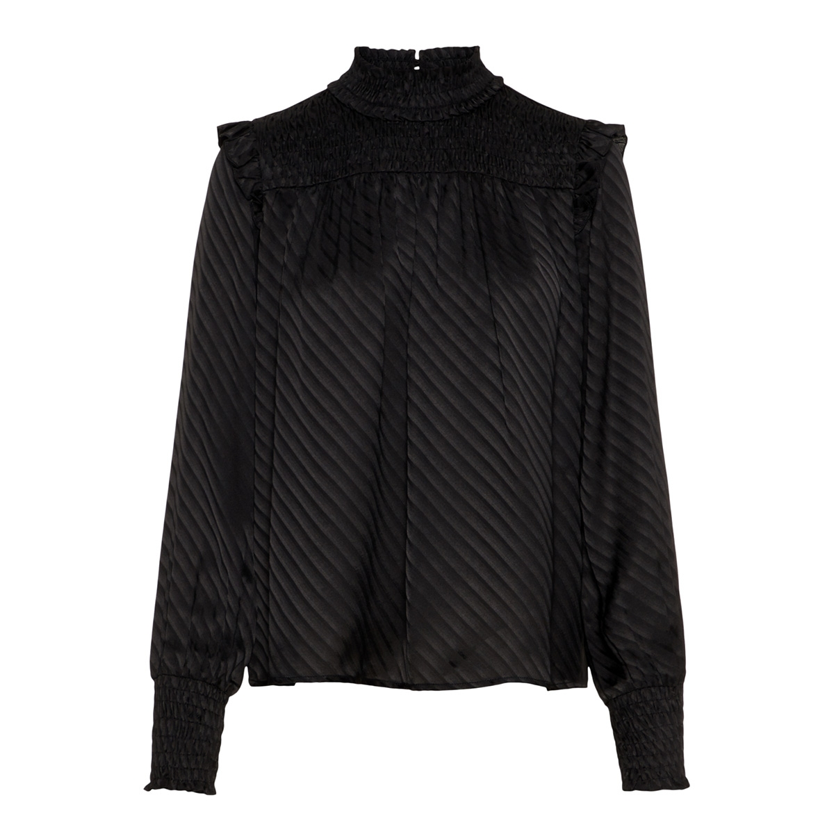 vmwonda l/s high neck d2-7 ki 10205011 vero moda blouse black
