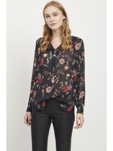 vialbany lucy l/s top 14051698 vila blouse navy blazer