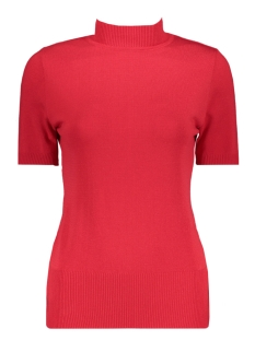 Zoso T-shirt Marnix Short Sleeve Rollneck RED