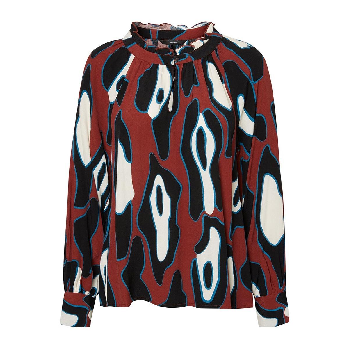 vmisla l/s top fd18 10214917 vero moda blouse henna/leonora