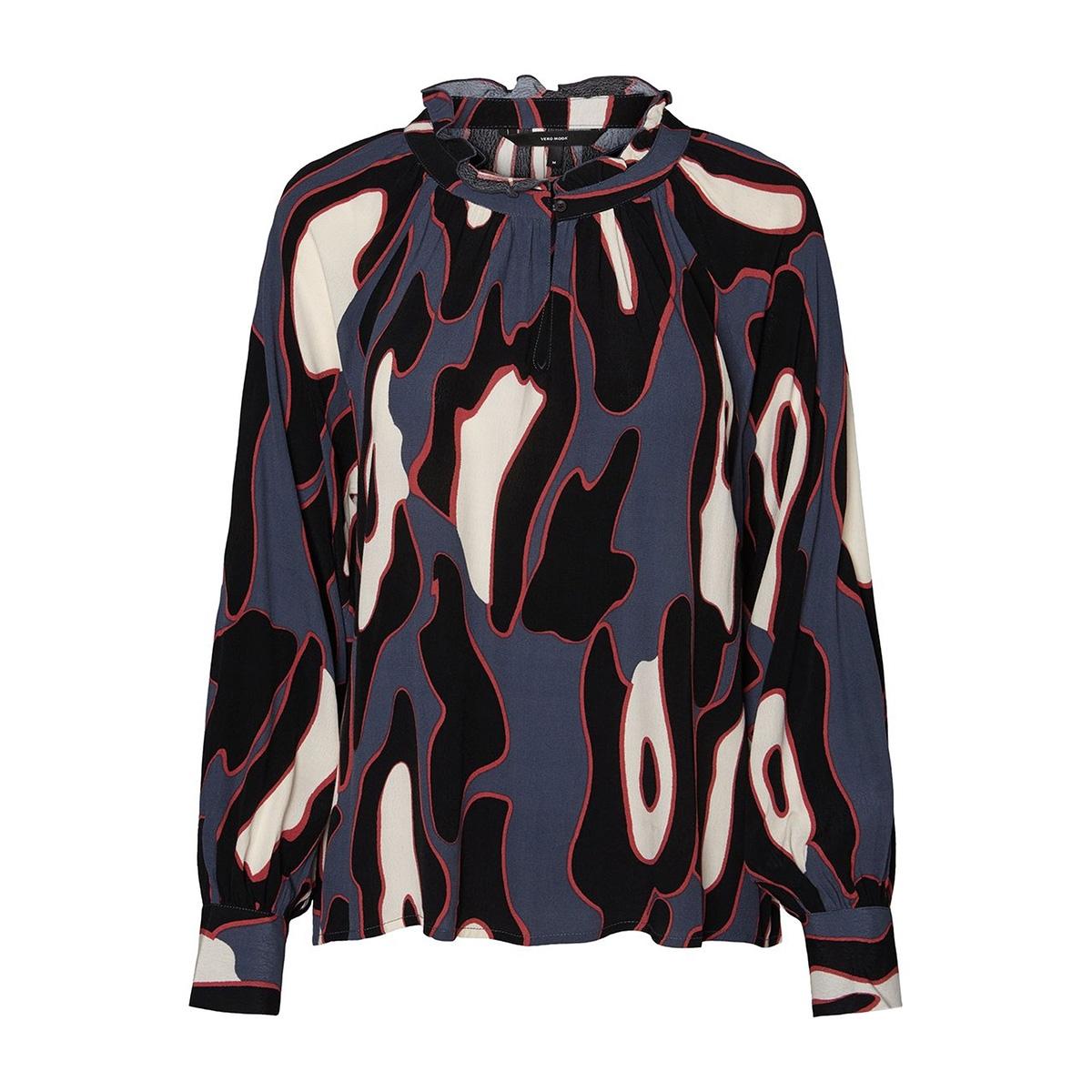 vmisla l/s top fd18 10214917 vero moda blouse ombre blue/leonora