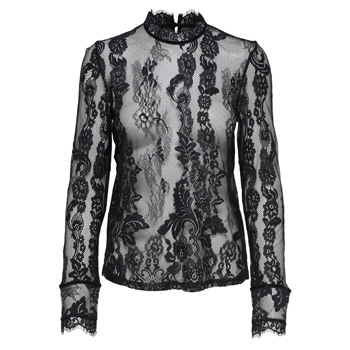 onlgranada lace ls top wvn 15165407 only t-shirt black