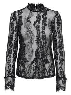 Only T-shirt onlGRANADA LACE LS TOP WVN 15165407 Black