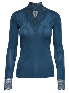 Jacqueline de Yong T-shirt JDYRINE L/S HIGH NECK TOP JRS NOOS 15166244 Legion Blue/DTM LACE