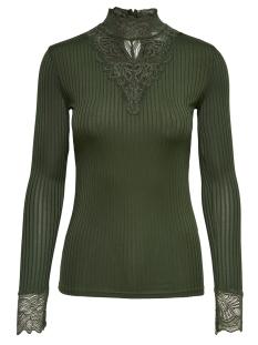 Jacqueline de Yong T-shirt JDYRINE L/S HIGH NECK TOP JRS NOOS 15166244 Duffel Bag/DTM LACE
