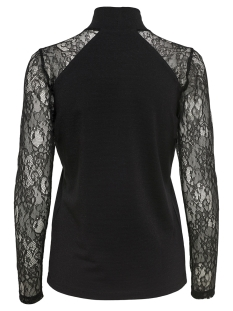 onlcinderella ls lace highneck top 15108465 only t-shirt black