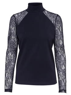 Only T-shirt onlCINDERELLA LS LACE HIGHNECK TOP 15108465 Night Sky