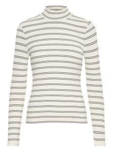Vero Moda T-shirt VMSELINA LS HIGH NECK TOP JRS 10204730 Pristine/Black