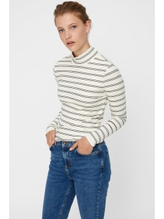 vmselina ls high neck top jrs 10204730 vero moda t-shirt pristine/black