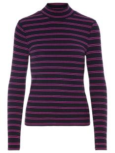 Vero Moda T-shirt VMSELINA LS HIGH NECK TOP JRS 10204730 Night Sky/ Rose Viole