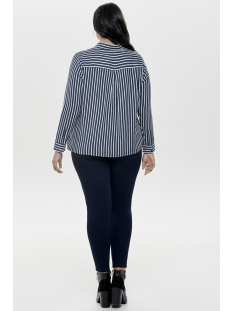 carbrooke stripe ls shirt 15170807 only carmakoma blouse majolica blue