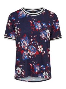 Only T-shirt onlANNA S/S SPORT TEE JRS 15179258 Night Sky/FLOWER AOP