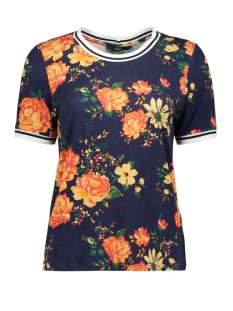 Only T-shirt onlANNA S/S SPORT TEE JRS 15179258 Blue Depths/FLOWER AOP