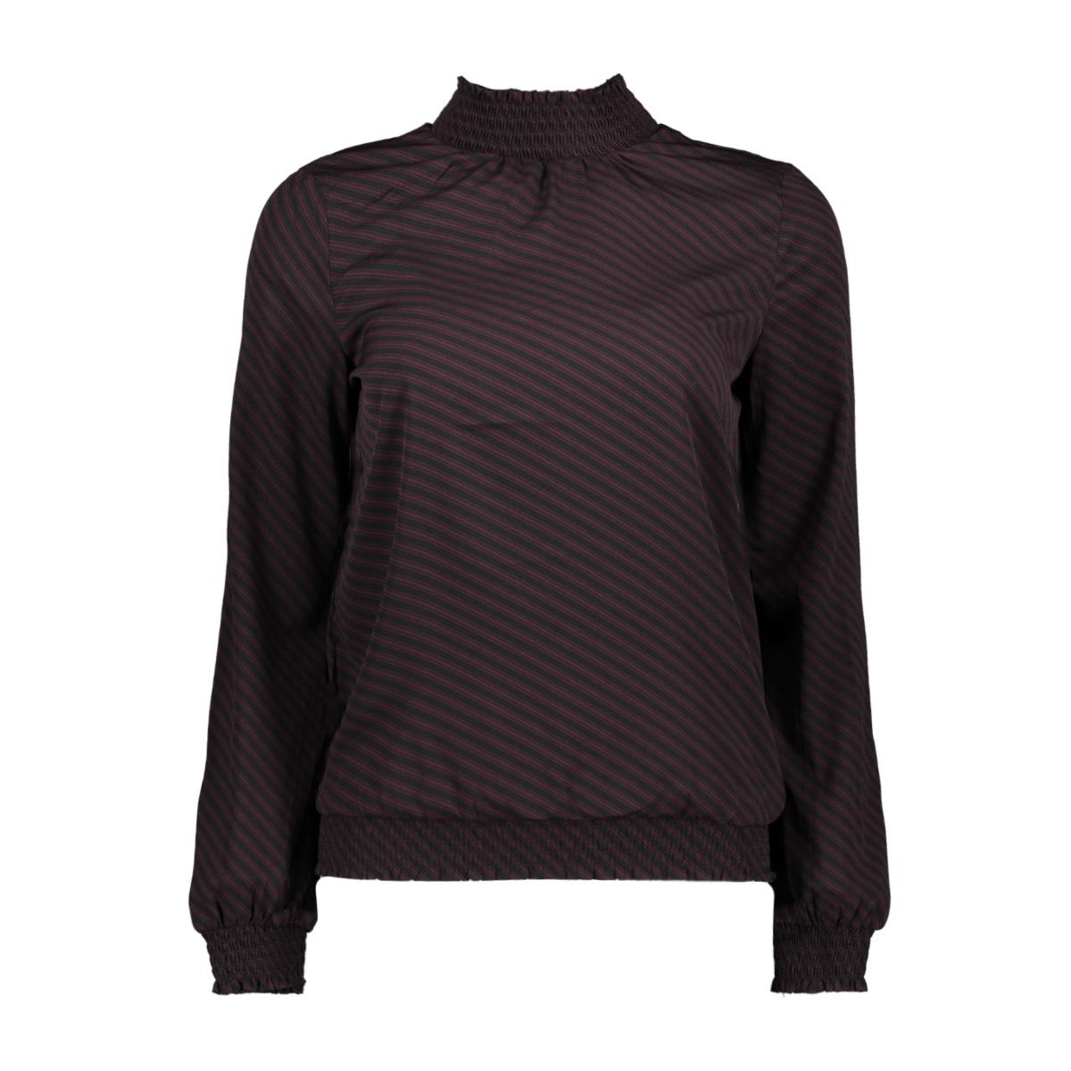 vmvenice l/s smock top exp 10210586 vero moda blouse black/winetasting