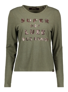 Superdry T-shirt G60562SR WASHED KHAKI