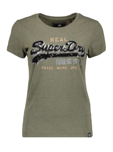 g10922yr superdry t-shirt washed khaki marl