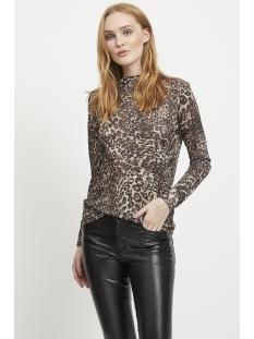 vijina l/s top /rx 14052283 vila t-shirt black/animal pri