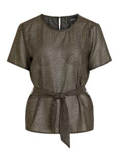Object T-shirt OBJHOLLIE S/S TOP A WI 23029438 Black/GOLD FOIL