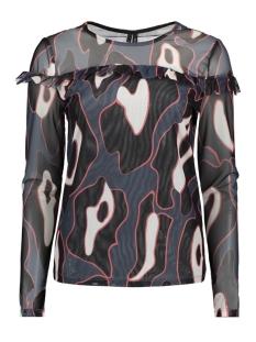 Vero Moda T-shirt VMRILEY MESH L/S FRILL TOP FD18 10214957 Ombre Blue/LEONORA