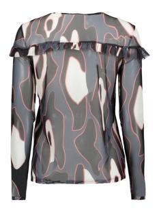 vmriley mesh l/s frill top fd18 10214957 vero moda t-shirt ombre blue/leonora