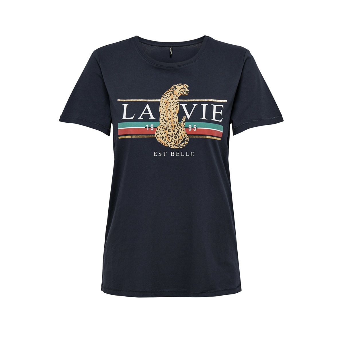 onlleona s/s top box jrs 15178606 only t-shirt night sky/la vie