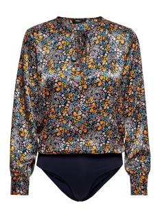 onlclara l/s body wvn 15167078 only blouse night sky/winter dit